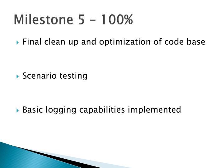 Milestone 5 – 100%