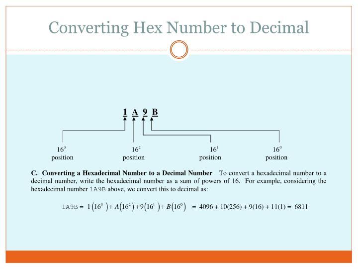 Converting Hex Number to Decimal