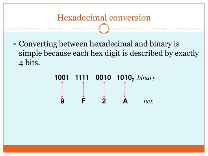 Hexadecimal conversion