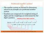 positional number system 1