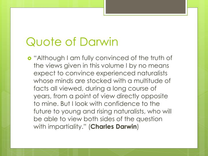 Quote of Darwin