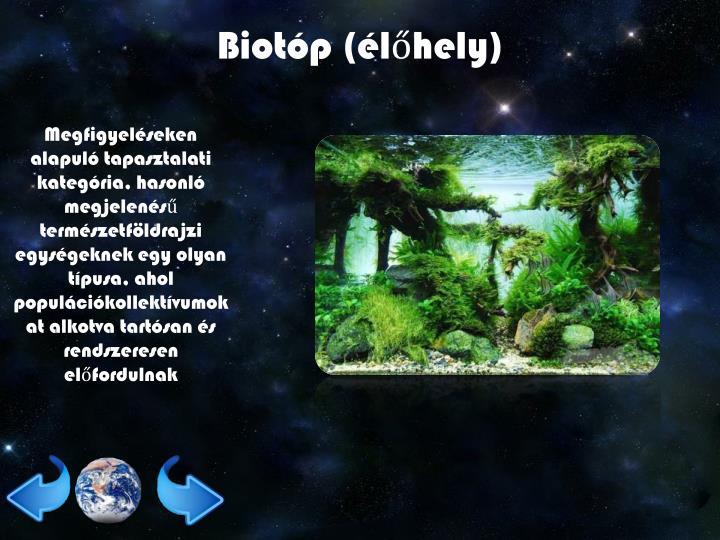 Biotóp (élőhely)