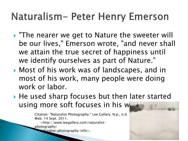 Naturalism- Peter Henry Emerson