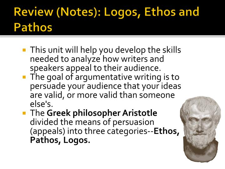 Review (Notes): Logos, Ethos and Pathos