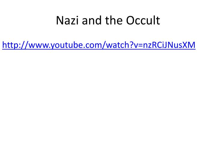 Nazi and the Occult