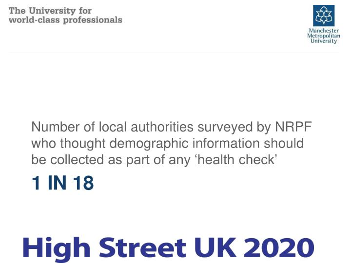 Number of local authorities surveyed by NRPF who thought