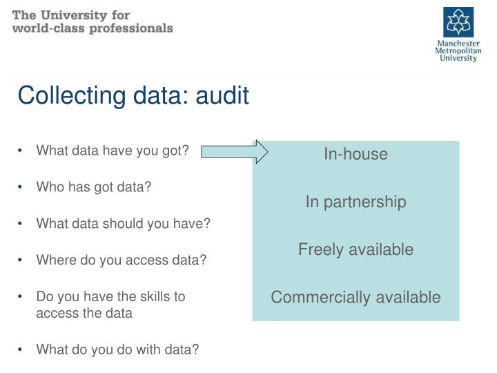 Collecting data: audit