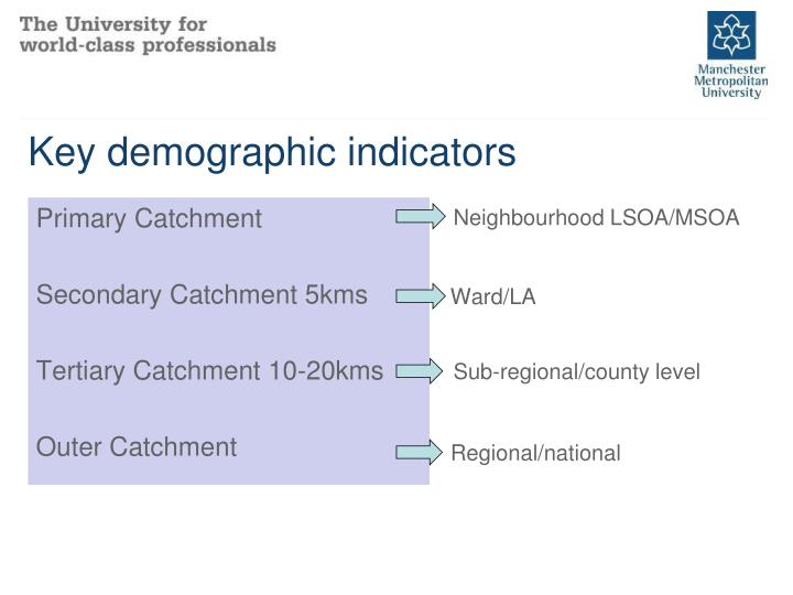 Key demographic indicators