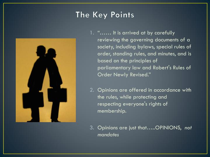 The Key Points
