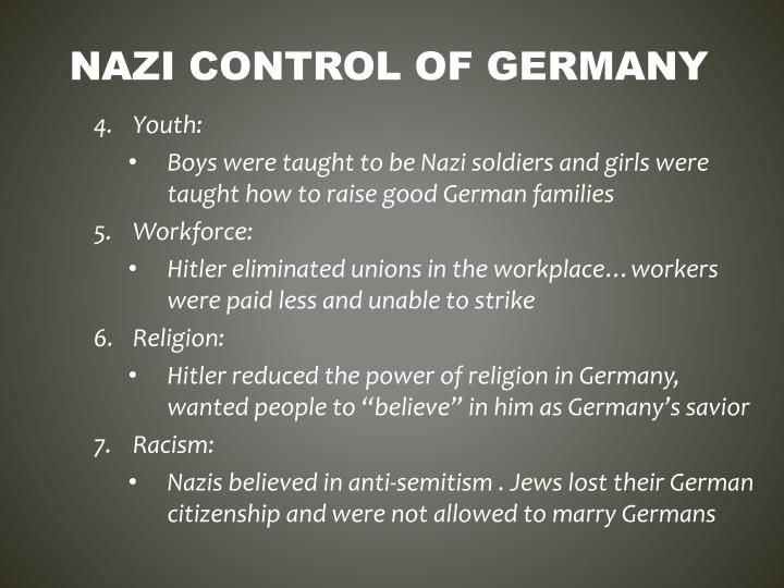 Nazi control of germany1