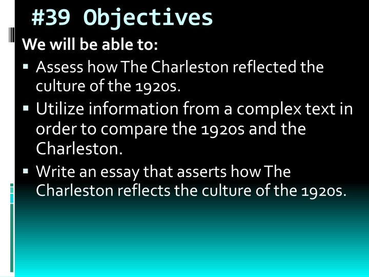 #39 Objectives