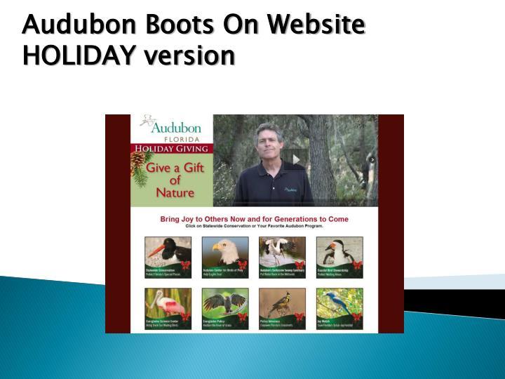 Audubon Boots On Website HOLIDAY version