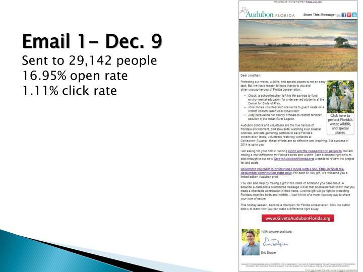 Email 1- Dec. 9