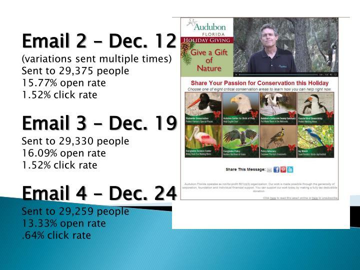 Email 2 – Dec. 12