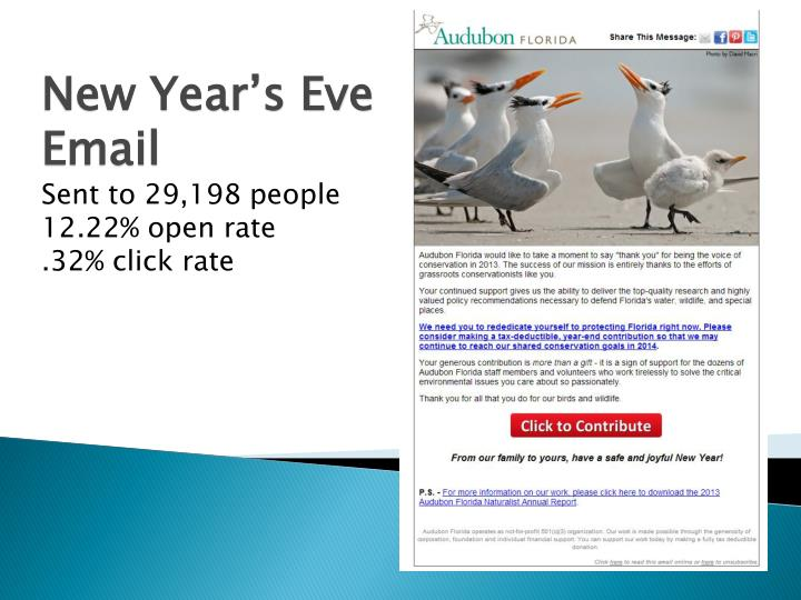 New Year's Eve Email