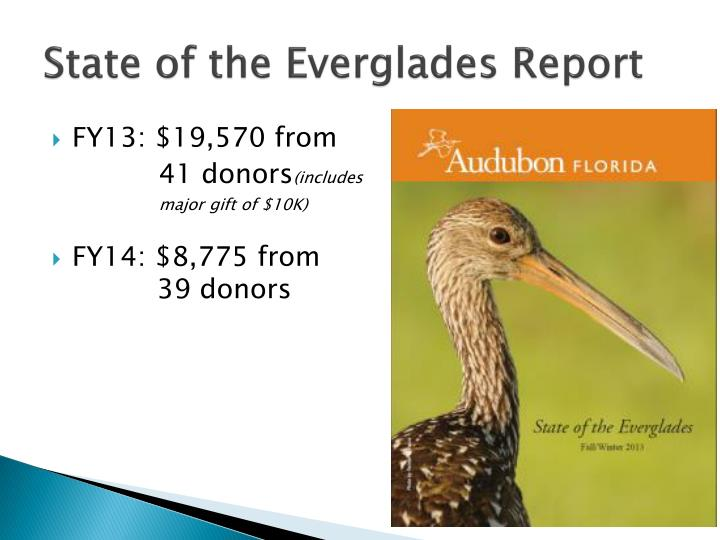 State of the Everglades Report
