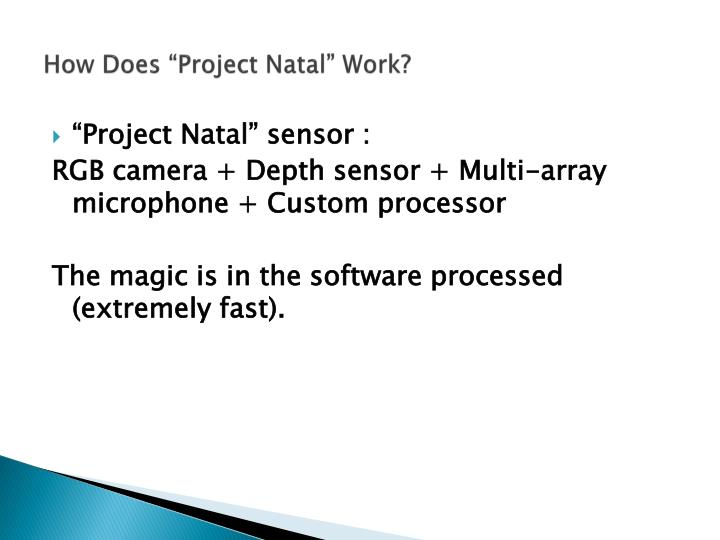 """How Does """"Project Natal"""" Work?"""