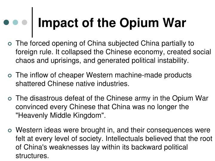 Impact of the Opium War
