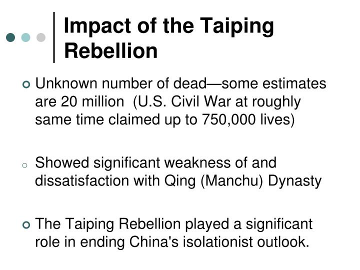 Impact of the Taiping Rebellion