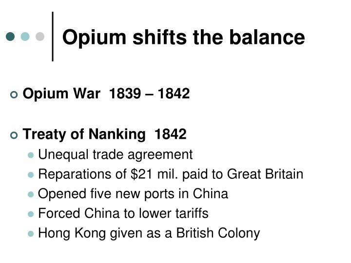 Opium shifts the balance