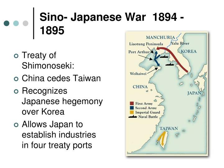 Sino- Japanese War  1894 -
