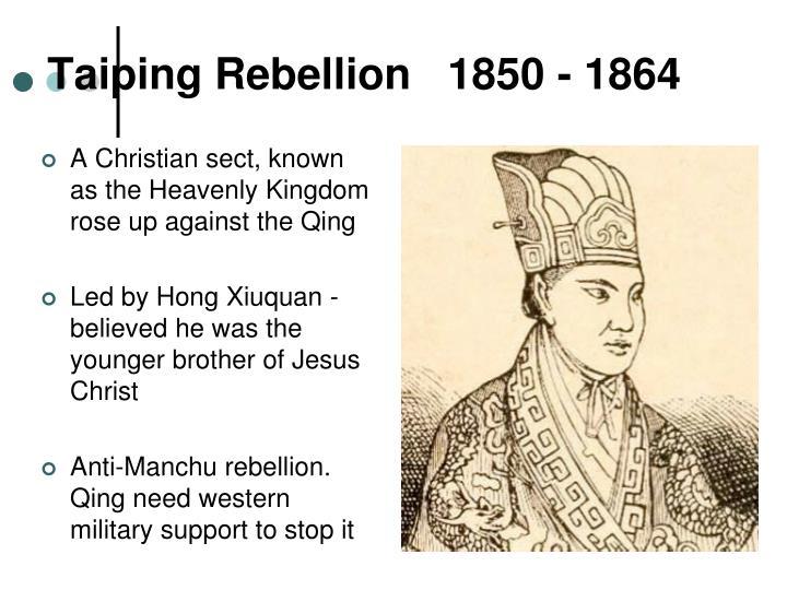 Taiping Rebellion   1850 - 1864