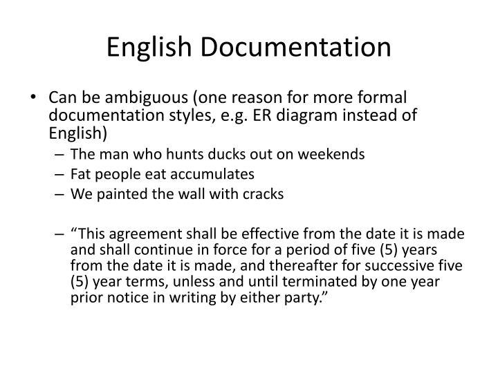 English Documentation