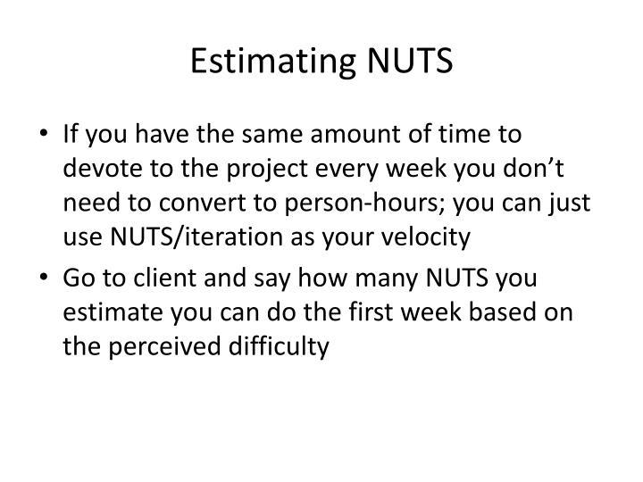 Estimating NUTS