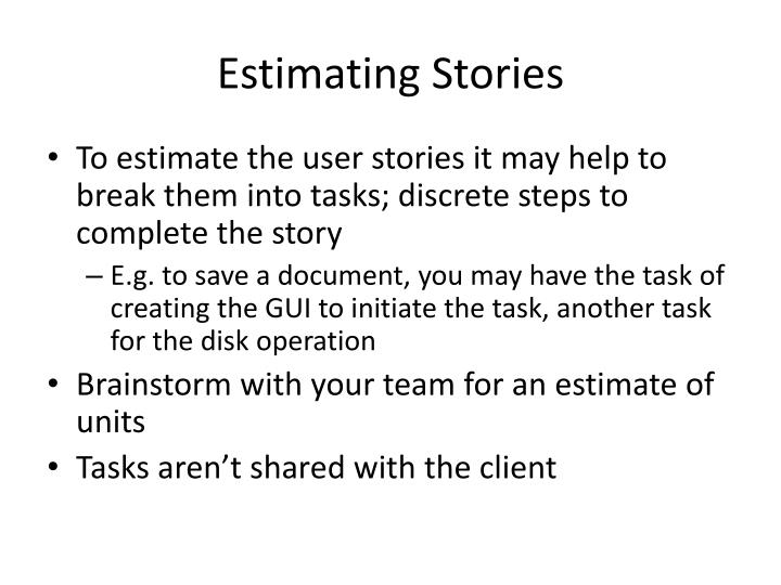 Estimating Stories