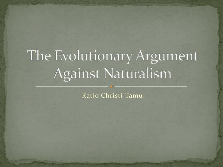 The evolutionary argument against naturalism