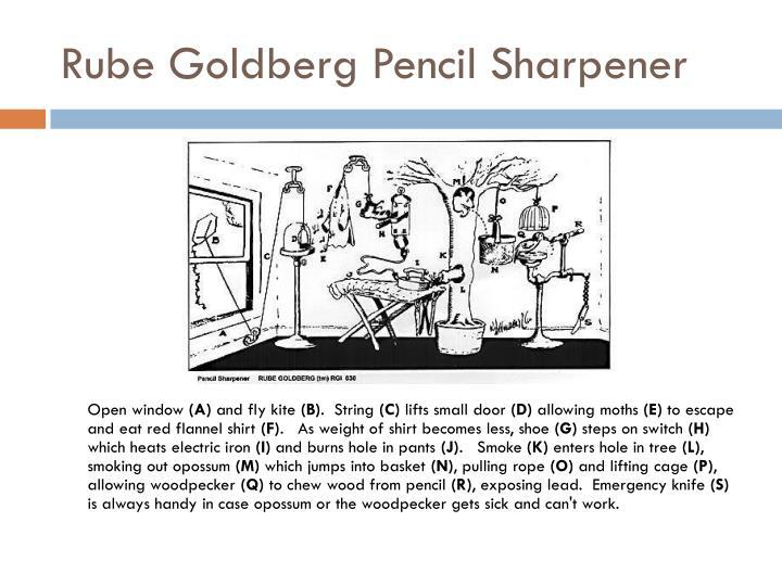 Rube Goldberg Pencil Sharpener