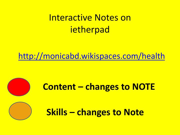 Interactive Notes on