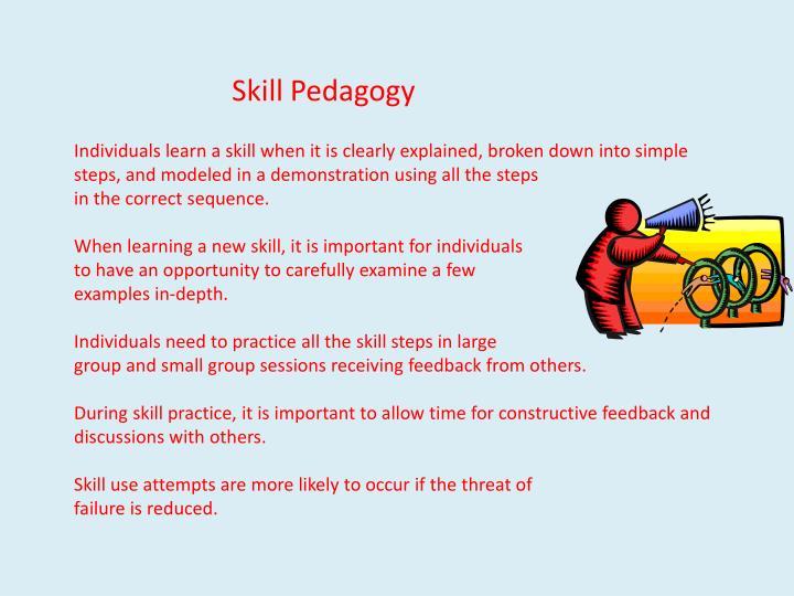 Skill Pedagogy