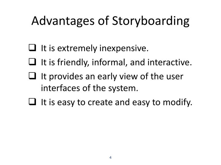 Advantages of Storyboarding
