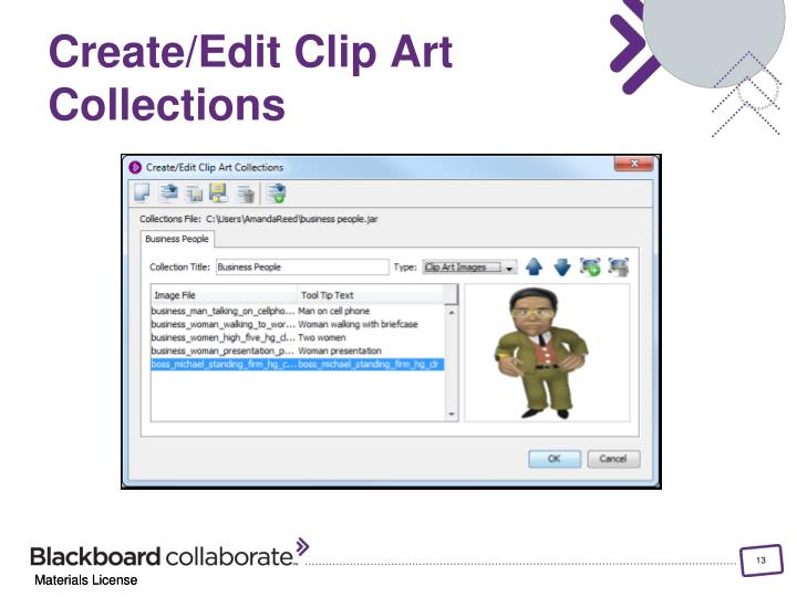 Create/Edit Clip Art Collections