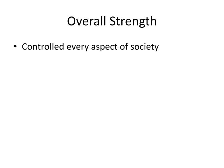 Overall Strength