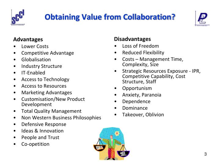 Obtaining value from collaboration