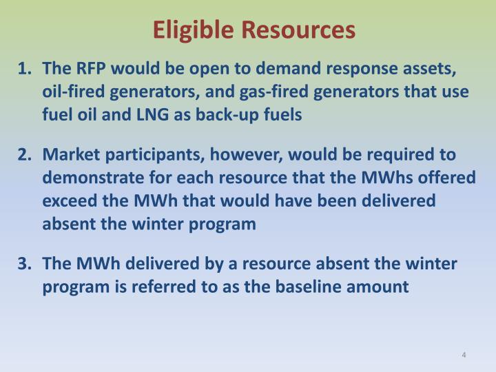 Eligible Resources