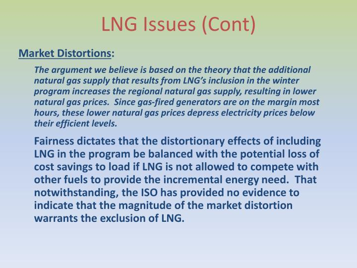 LNG Issues (