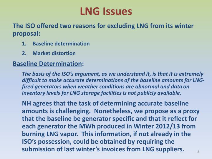 LNG Issues