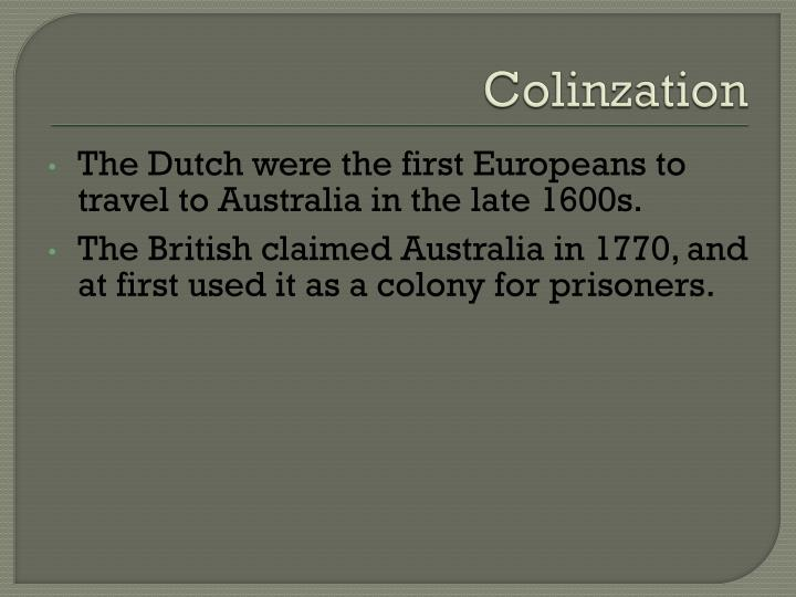 Colinzation