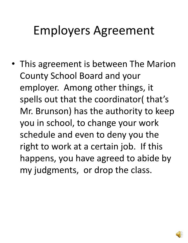 Employers Agreement