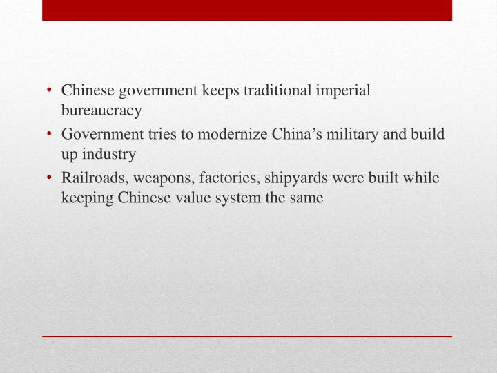 Chinese government keeps traditional imperial bureaucracy