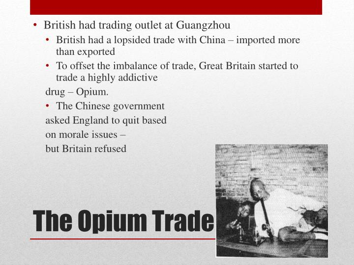 British had trading outlet at Guangzhou