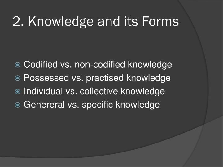 2. Knowledge