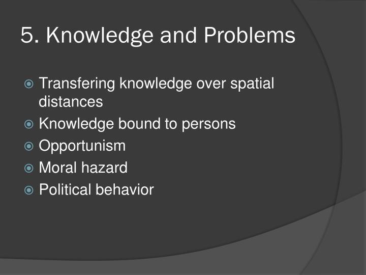 5. Knowledge