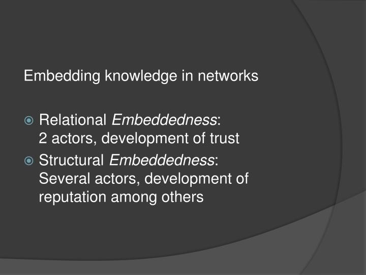 Embedding knowledge in