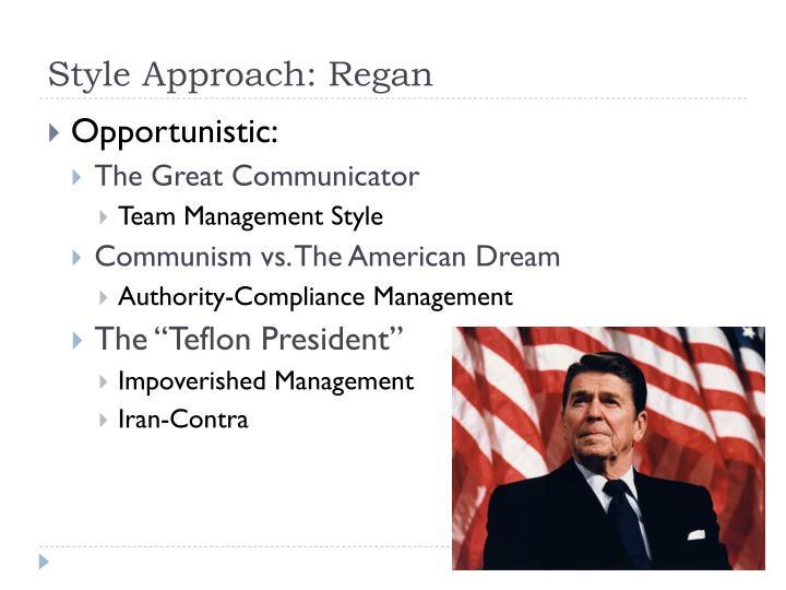 Style Approach: Regan