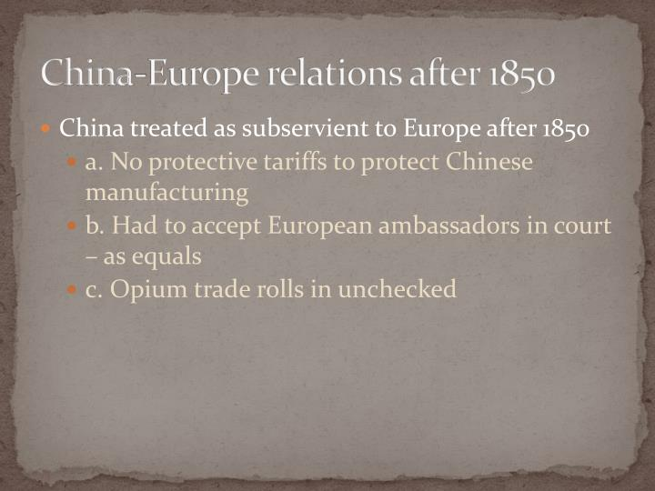 China-Europe relations after 1850