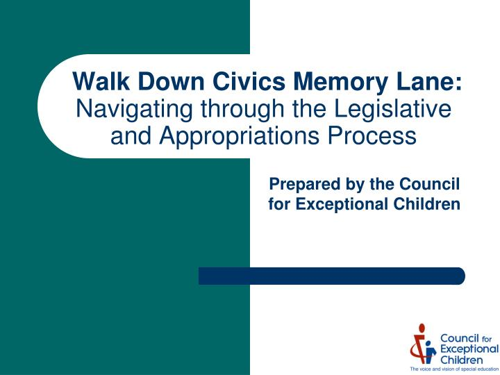 Walk down civics memory lane navigating through the legislative and appropriations process